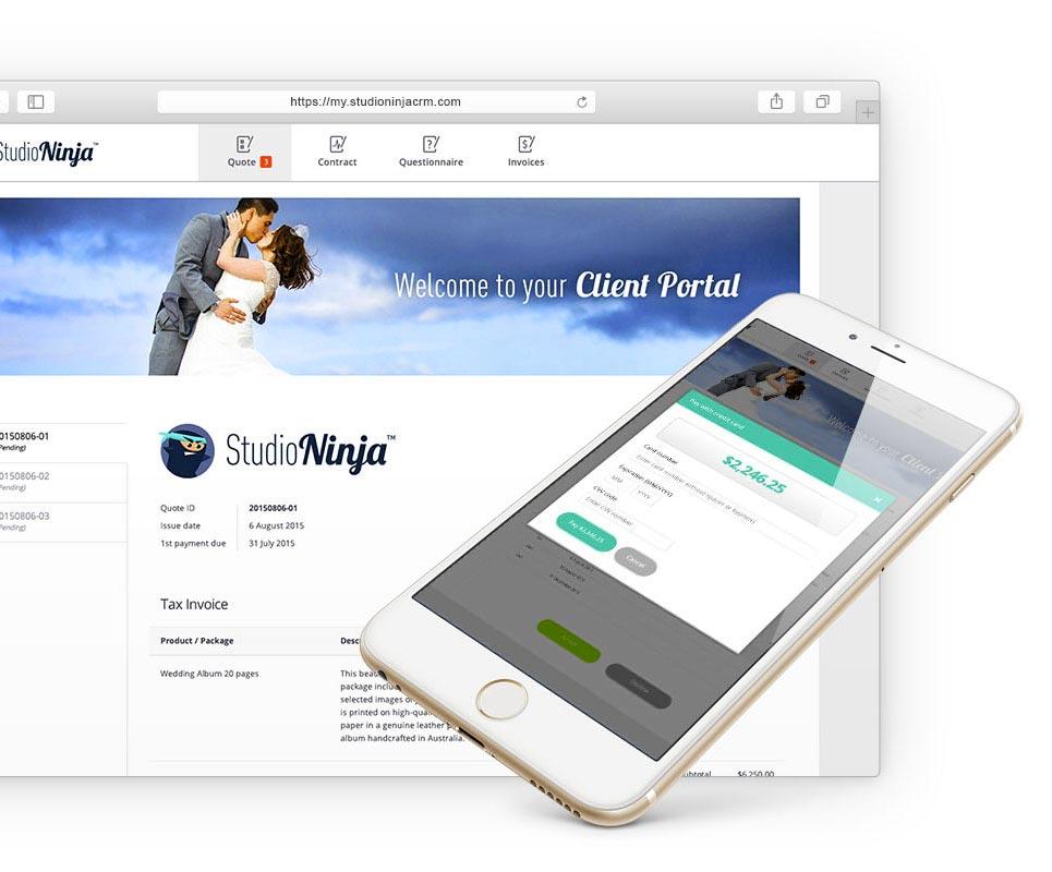photography crm client portal