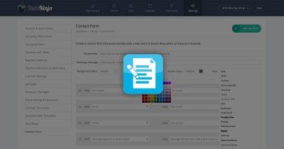Studio management software contact form